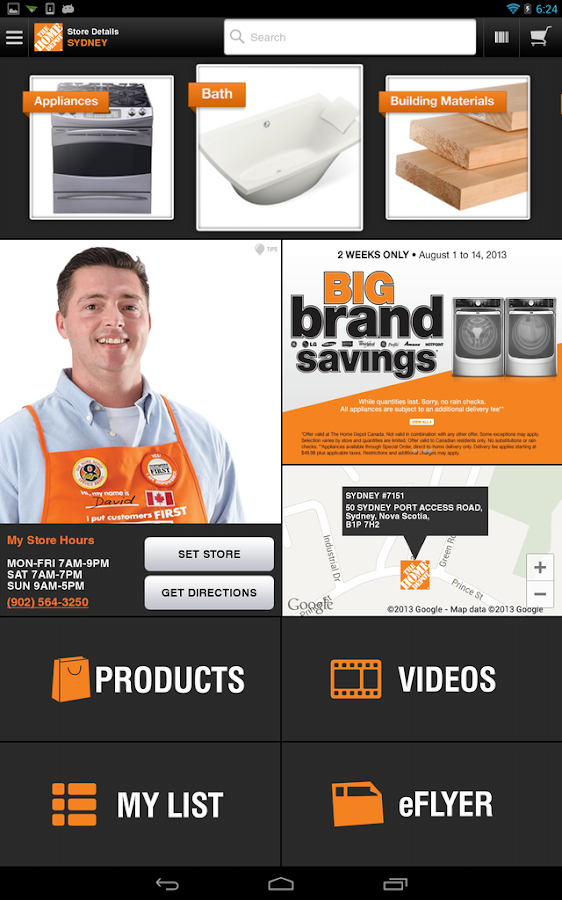 The Home Depot Canada - screenshot