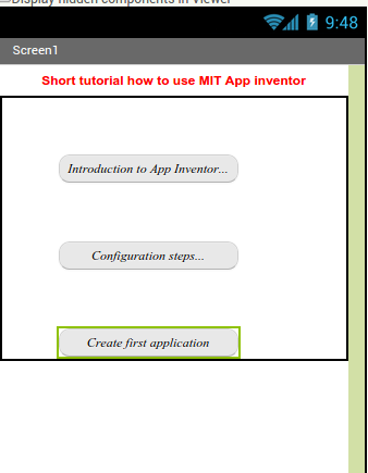 MIT App Inventor introduction