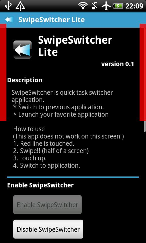 SwipeSwitcher Lite- screenshot