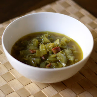 Green Tomato Soup with Black Forest Ham.