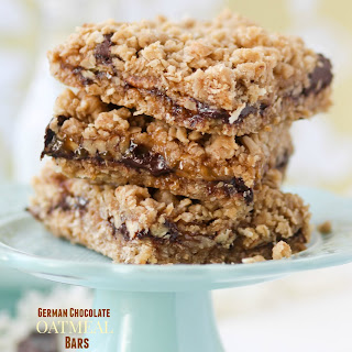 German Chocolate Oatmeal Bars