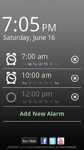 touchAlarm: Fun Alarm Clock - screenshot thumbnail