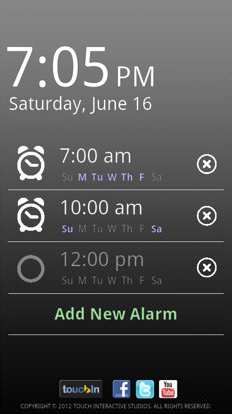 touchAlarm: Fun Alarm Clock- screenshot