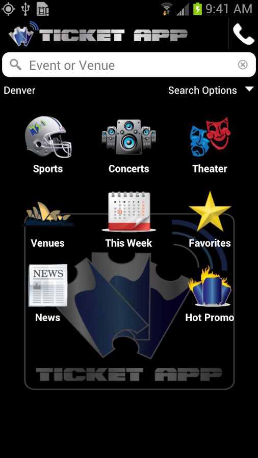 TICKET APP - Concerts & Sports - screenshot