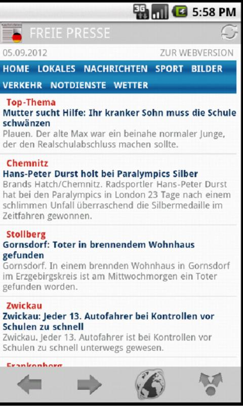Deutsche Zeitungen & Magazine - screenshot