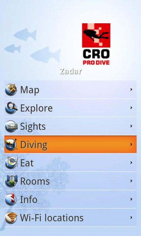 mX Diving Croatia - Top Guide - screenshot