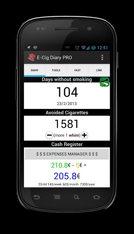 E-Cig Diary- screenshot