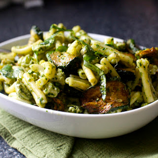Pasta and Fried Zucchini Salad