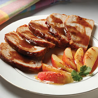 Grilled Pork Tenderloin with Apple Butter Glaze