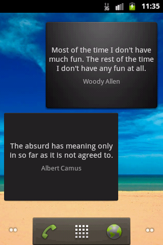 Smart Quotes Widget- screenshot
