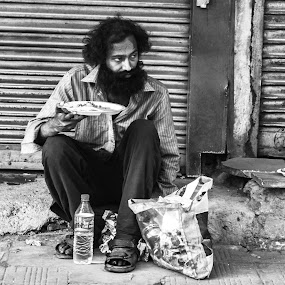 street photography by Madly Baangali - People Street & Candids ( black n white, india, street photography )