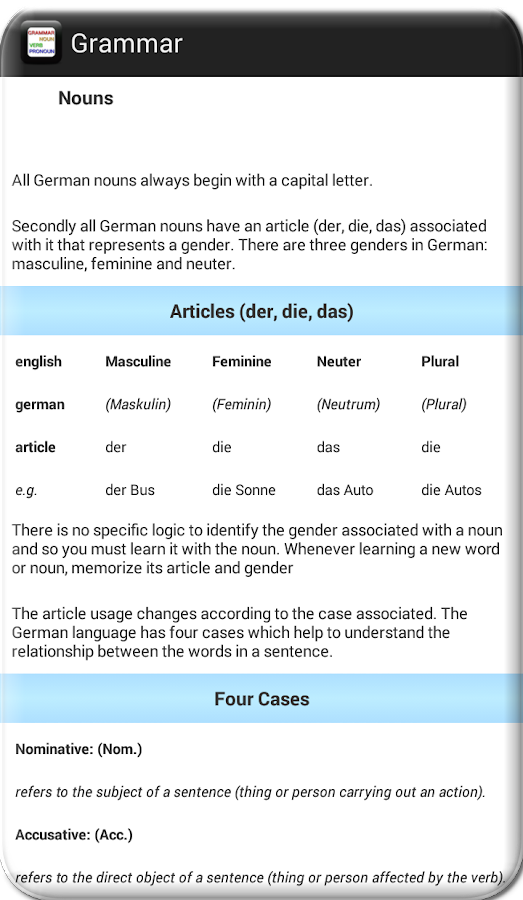 English German- screenshot