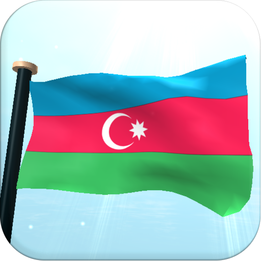 Azerbaijan Flag 3D Free