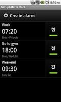 Screenshot of GetUp! Alarm Trial