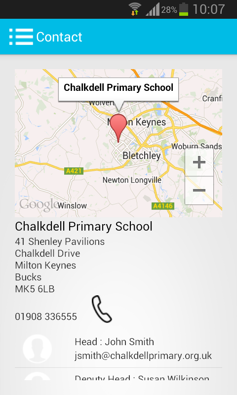 mySchoolApp- screenshot