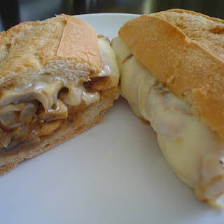 Mushroom and Onion Sandwich.