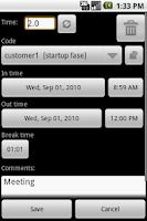 Screenshot of myTimeSheet Free