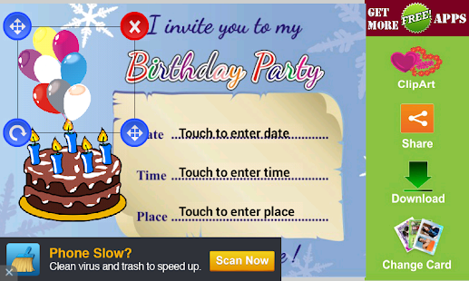 App Birthday Party Invitation Card APK for Windows Phone – Party Invitation App
