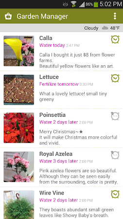 Garden Manager : Plant Alarm 1.7.8 screenshot 257000