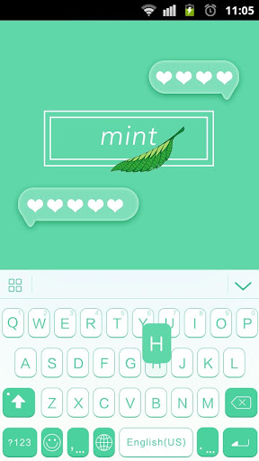 Mint Theme for Keyboard Emoji