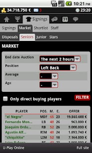 Striker Manager (soccer) - screenshot thumbnail