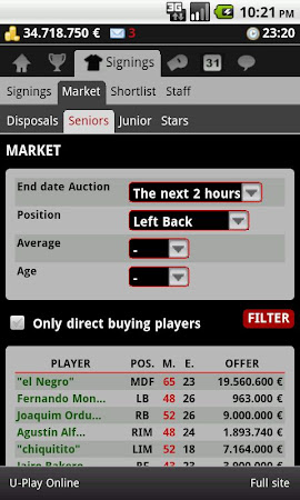 Striker Manager (soccer) 0.82 screenshot 390641