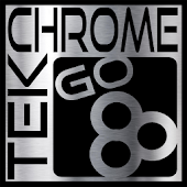 TEK Chrome GO Launcher Theme