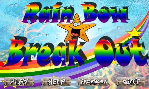 RainBow BreakOut Free apk screenshot