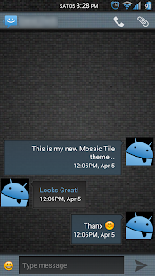 Mosaic Tile Blue CM11 Theme- screenshot thumbnail