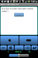 Screenshot of Morse Code Keyer Pro