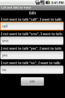 Screenshot of Call & SMS by Voice PRO