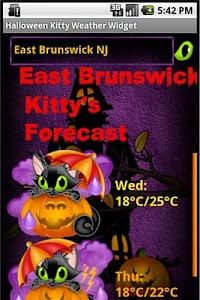 Halloween Weather Widget screenshot 4