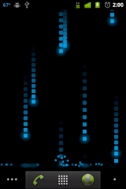 Pixel Rain Live Wallpaper Screenshot 1