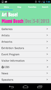 ArtBasel MiamiBeach Guide 2013 - screenshot thumbnail
