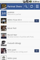 Screenshot of jusChat