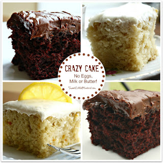 Crazy Cake Recipe (No Eggs, Milk, Butter or Bowls)