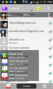 Contacts to PDF- screenshot thumbnail
