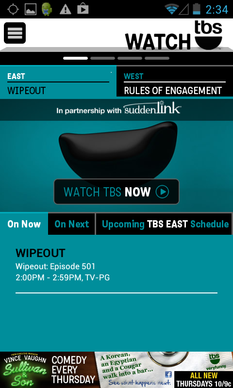 WATCH TBS - screenshot