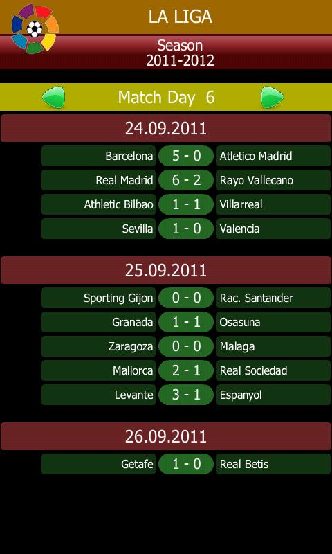 Major Football Tables Fixtures - Android Apps on Google Play