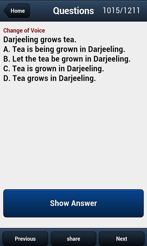 Test Verbal Reasoning - screenshot