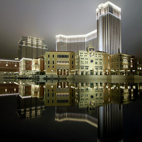 The Venetian Macau by Renato Marques - Buildings & Architecture Office Buildings & Hotels ( reflection, cotai, macau, casino, night, hotel, venetian,  )
