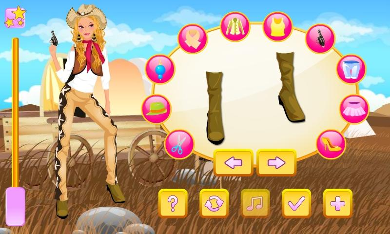 Western Girl Dress Up - screenshot