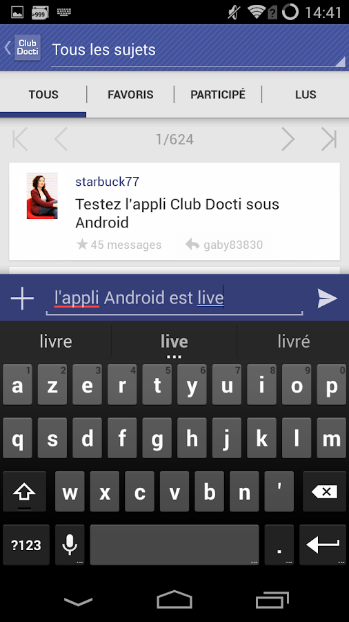 Club Doctissimo- screenshot