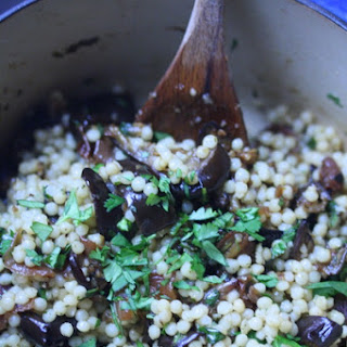 Roasted Eggplant and Israeli Couscous Salad