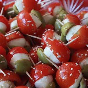 Tomato and Mozzarella Mini Kebabs