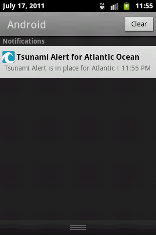 Atlantic Ocean Tsunami Alerter - screenshot