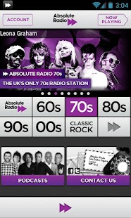 Absolute Radio 70s - screenshot thumbnail