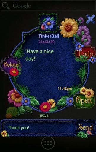 GOSMS/POPUP Bohemian Floral|玩個人化App免費|玩APPs