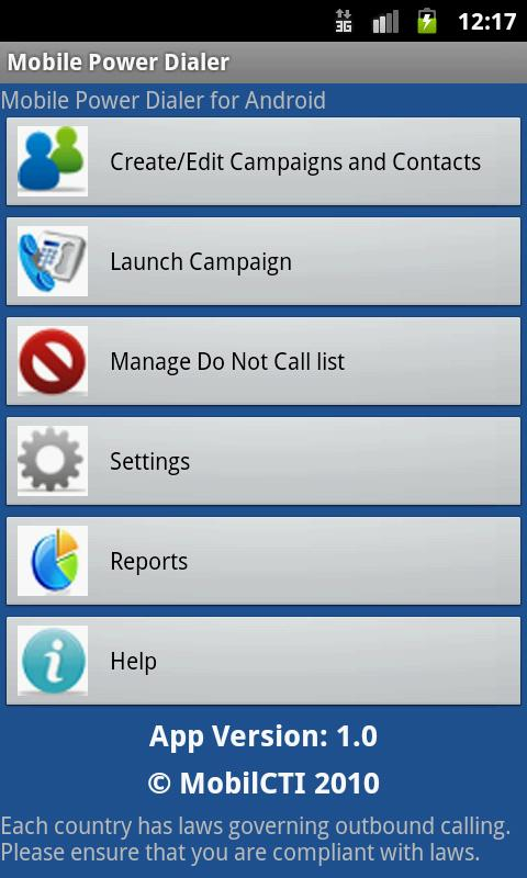 MobilCTI Auto Power Dialer- screenshot