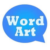 WordArt Chat Sticker FB